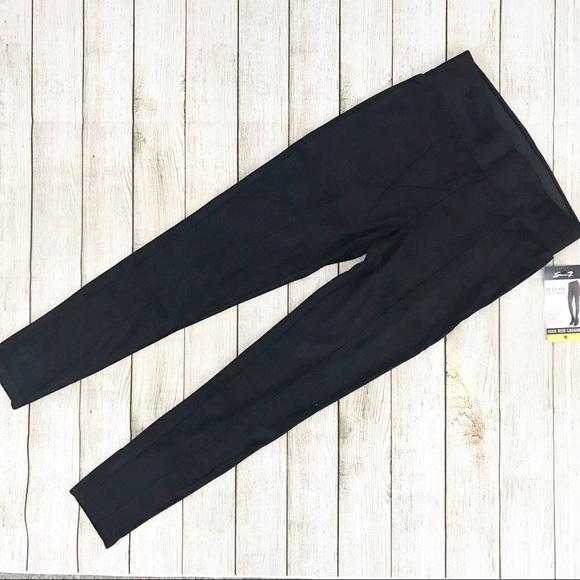 a72fd0827952c Seven7 Pants | Nwt Faux Suede High Rise Legging Black | Poshmark